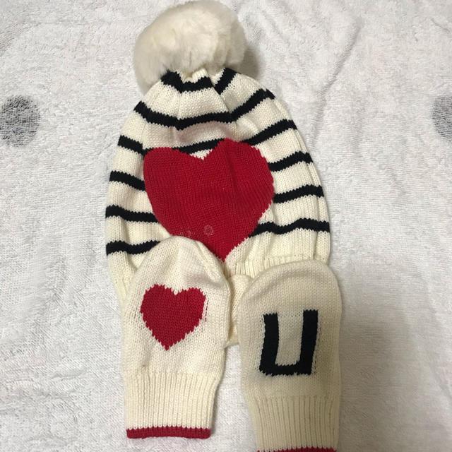 babyGAP(ベビーギャップ)のbabygap ニット手袋 ニット帽子セット キッズ/ベビー/マタニティのこども用ファッション小物(帽子)の商品写真