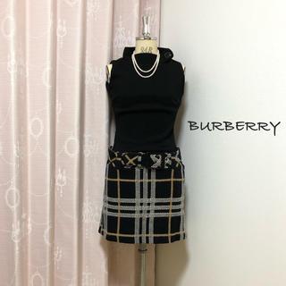 BURBERRY BLUE LABEL - バーバリー ブルーレーベル ニット チェック ワンピース