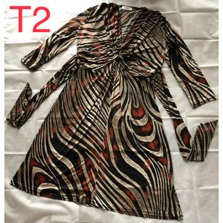 アーモワールカプリス(armoire caprice)の【未使用】フィフィーユ♡フランス製♡シャープでシックなデイリーワンピース♡T2(ひざ丈ワンピース)