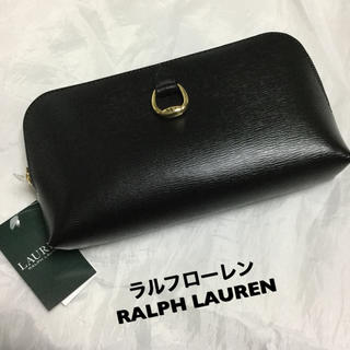 Ralph Lauren - 新品タグ付き ラルフローレンポーチインポーチ 長財布 黒