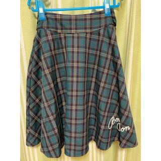 イーハイフンワールドギャラリーボンボン(E hyphen world gallery BonBon)のE hyphen bonbonチェック スカート(ひざ丈スカート)