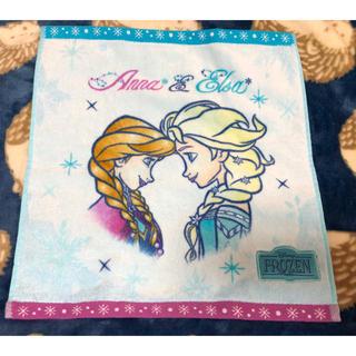 アナトユキノジョオウ(アナと雪の女王)のアナと雪の女王2 ウォッシュタオル エルサ&アナ横顔 未使用品 ディズニー(タオル)
