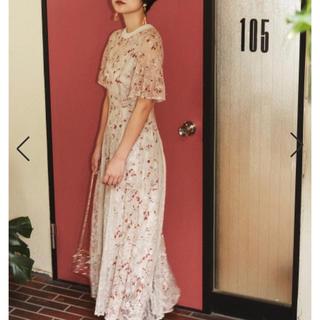 スナイデル(snidel)の【結婚式ドレスにぴったり】花柄レースドレス(ロングドレス)
