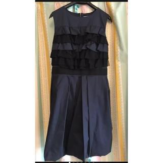 LANVIN en Bleu - LANVIN en Blue ランバンオンブルー ネイビー フリル ドレス