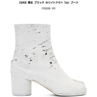 マルタンマルジェラ(Maison Martin Margiela)のmaison margiela マルジェラ 足袋 ブーツ ペイント tabi 白(ブーツ)