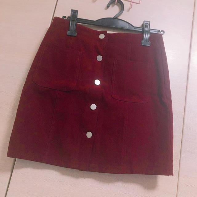 evelyn(エブリン)の台形スエードミニスカート レディースのスカート(ミニスカート)の商品写真