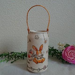 リメイク缶☺️仲良しハムちゃん➰ハンドメイド リメ缶(プランター)