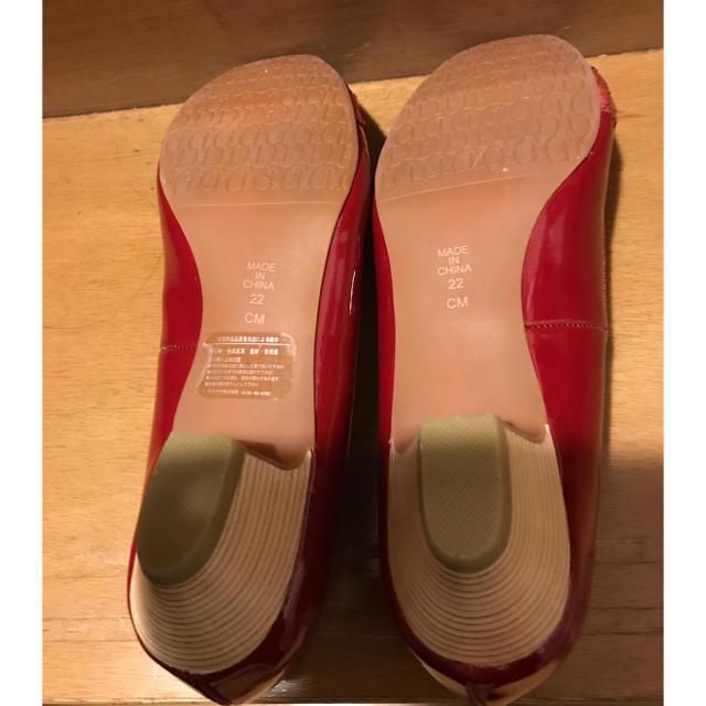 DIANA(ダイアナ)のアルテミス バイダイアナ 赤エナメルパンプス 新品未使用 レディースの靴/シューズ(ハイヒール/パンプス)の商品写真