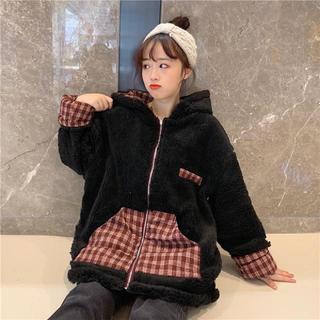 ボアパーカー 韓国ファッション レディース リバーシブル かわいい もこもこ(ブルゾン)