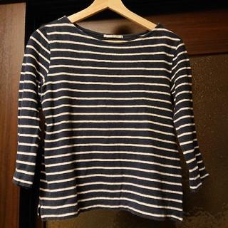 ユニクロ(UNIQLO)のボーダーシャツ Lサイズ(Tシャツ(長袖/七分))