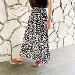 スカート フラワージャガードフレア   FREE *SSK001-00FR(ロングスカート)