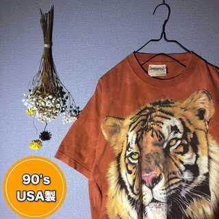 90's USA製 ビッグアニマル Tシャツ タイダイ柄 ヴィンテージ(Tシャツ/カットソー(半袖/袖なし))
