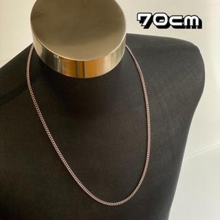 シルバー ロングチェーンネックレス 【70cm】メンズ ネックレス アクセサリー(ネックレス)
