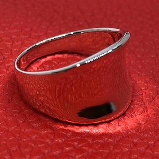 逆甲丸 シルバー925 リング  19号 ワイド 幅広 ユニセックス 銀 指輪(リング(指輪))