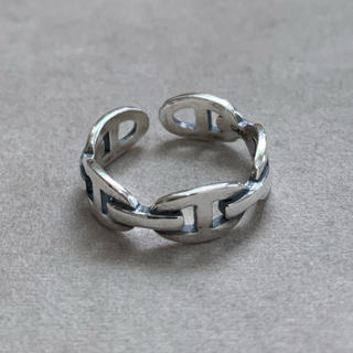 シルバー925 チェーンデザインスリムリング チェーン シルバー(リング(指輪))