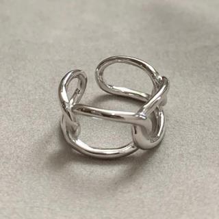 シルバー925 シンプルチェーンリング silver925(リング(指輪))