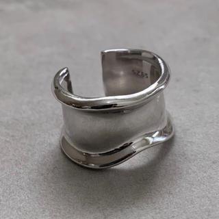 シルバー925 デザイン平打ちリング silver925 カーブ(リング(指輪))