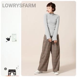 LOWRYS FARM - LOWRYSFARM リブ素材 ハイネックロンT