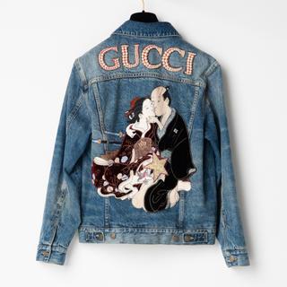 グッチ(Gucci)のGUCCI 春画デニムジャケット 42(Gジャン/デニムジャケット)