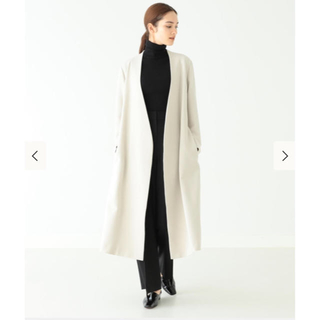 Demi-Luxe BEAMS - Demi-Luxe BEAMS ノーカラーロングコート