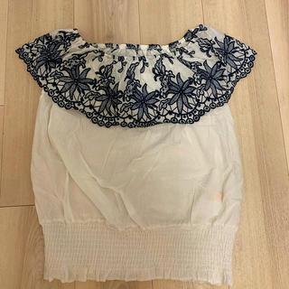 アナップミンピ(anap mimpi)の花柄刺繍ブラウス(シャツ/ブラウス(半袖/袖なし))