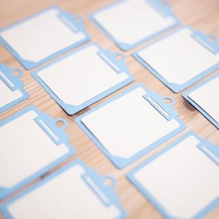 メッセージカード「クリップボード」青(カード/レター/ラッピング)