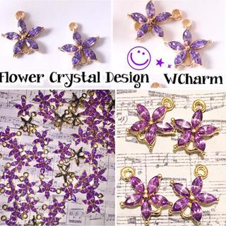 高品質Purple Crystal WCharm 4個セット◡̈⃝︎⋆︎*
