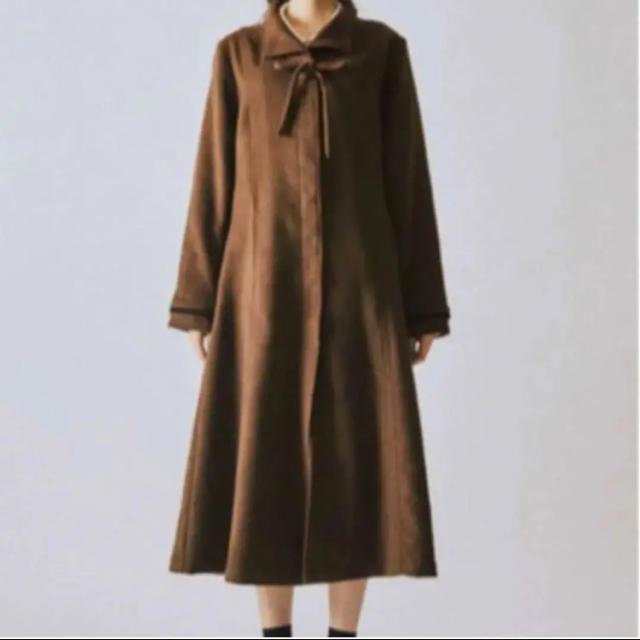 merry jenny(メリージェニー)のmerry jenny ♡ リボンAラインロングコート レディースのジャケット/アウター(ロングコート)の商品写真