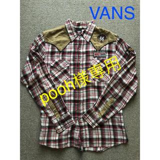 ヴァンズ(VANS)のVANS/ウェスタンシャツ(L)/レッド&ブラックチェック(シャツ)