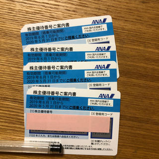 ANA(全日本空輸) - ANAの株主優待券4枚
