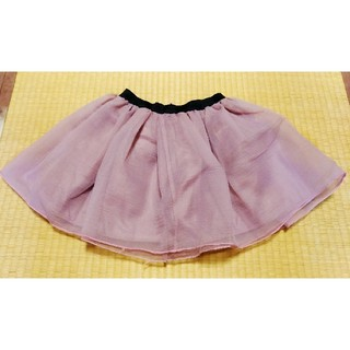 薄いパープルピンクみにミニスカートパニエ軽量旅行にしわなりにくい(ミニスカート)