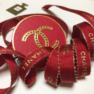 CHANEL - シャネルレッド&ゴールドリボン1m+赤丸カメリアステッカー❤️レアset❤️