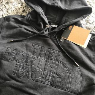 THE NORTH FACE - 新品 ノースフェイス パーカー ブラック ロゴ レア 型押し