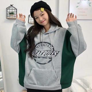 パーカー 韓国ファッション レディース かわいい カジュアル 古着系 オルチャン(パーカー)