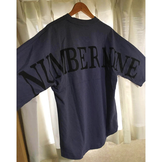 NUMBER (N)INE - ナンバーナイン  ビックロゴ シルエット7部袖Tシャツ