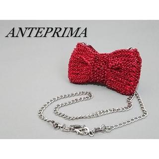 アンテプリマ(ANTEPRIMA)のANTEPRIMA アンテプリマ ワイヤーショルダーバッグ リボン レッド(ショルダーバッグ)