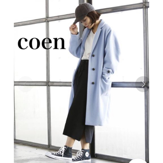 coen - coen コーエン ライトメルトンチェスターコート 美品
