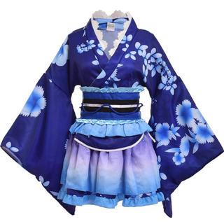 和服コスチューム 和服 和風ドレス (青)