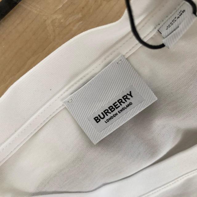 BURBERRY(バーバリー)の【新品未着用】 Burberry ホワイト Murs T シャツ (半袖) メンズのトップス(Tシャツ/カットソー(半袖/袖なし))の商品写真