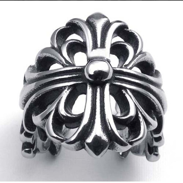 Chrome Hearts(クロムハーツ)の新品未使用♪ 金属アレルギー対応♥ フローラルクロスリング メンズのアクセサリー(リング(指輪))の商品写真