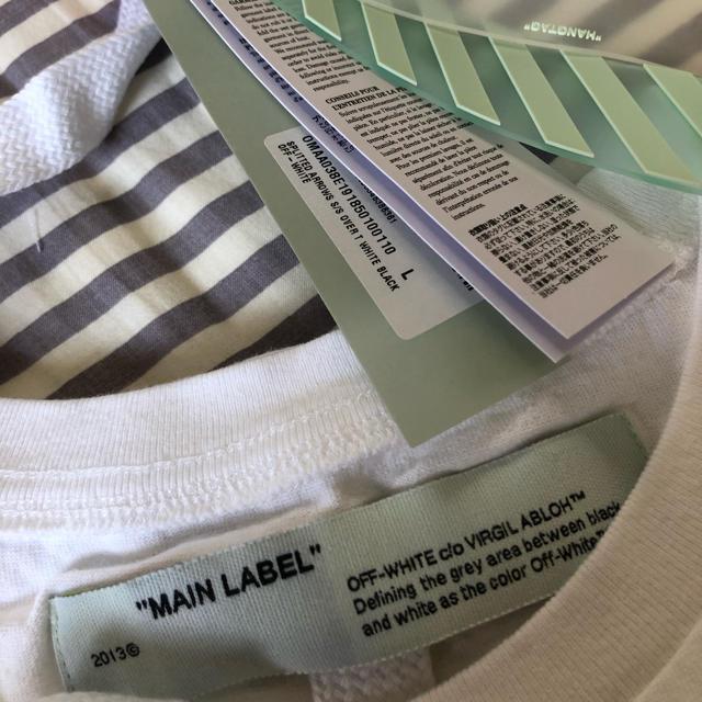 OFF-WHITE(オフホワイト)の【新品未着用】 off-white ホワイト スプリット アロー T シャツ レディースのトップス(Tシャツ(半袖/袖なし))の商品写真