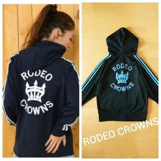 ロデオクラウンズ(RODEO CROWNS)の美品♪RODEO CROWNS★ラインロゴジャージアウター (ブルゾン)