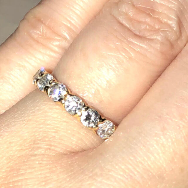 k18ダイヤモンドエタニティリング レディースのアクセサリー(リング(指輪))の商品写真