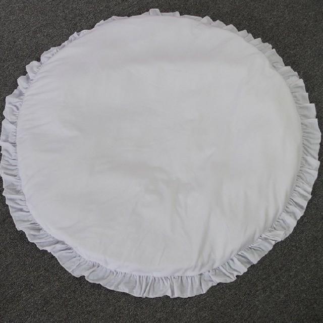 サニーマット フリルマット ホワイト キッズ/ベビー/マタニティの寝具/家具(フロアマット)の商品写真