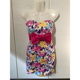 dazzy store - 花柄 リボン ドレス