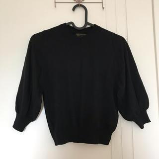 マーキーズ(MARKEY'S)の新品未使用品120マーキーズ黒ブラック綿ニットバルーン袖卒園式入学式女子(ニット)