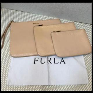 Furla - 正規品 FURLA フルラ ポーチバッグ 3点セット アイボリー