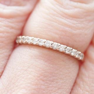 トクトクジュエリー ハーフエタニティ ダイヤモンド リング(リング(指輪))