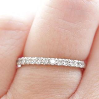 トクトクジュエリー エタニティ プラチナ リング ダイヤモンド(リング(指輪))