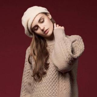 Mila Owen - Mila Owen ベレー帽 ベージュ / FREE